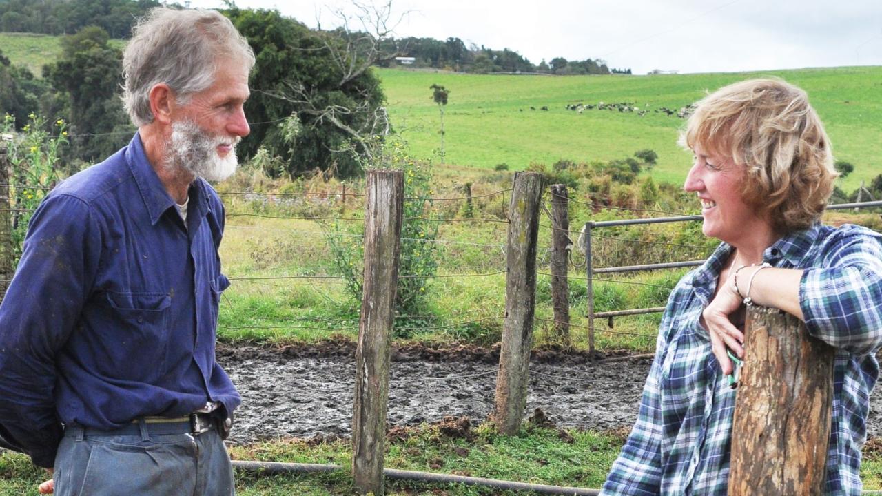 Peeramon dairy farmer Gavin Doull with Rhonda Sorensen.