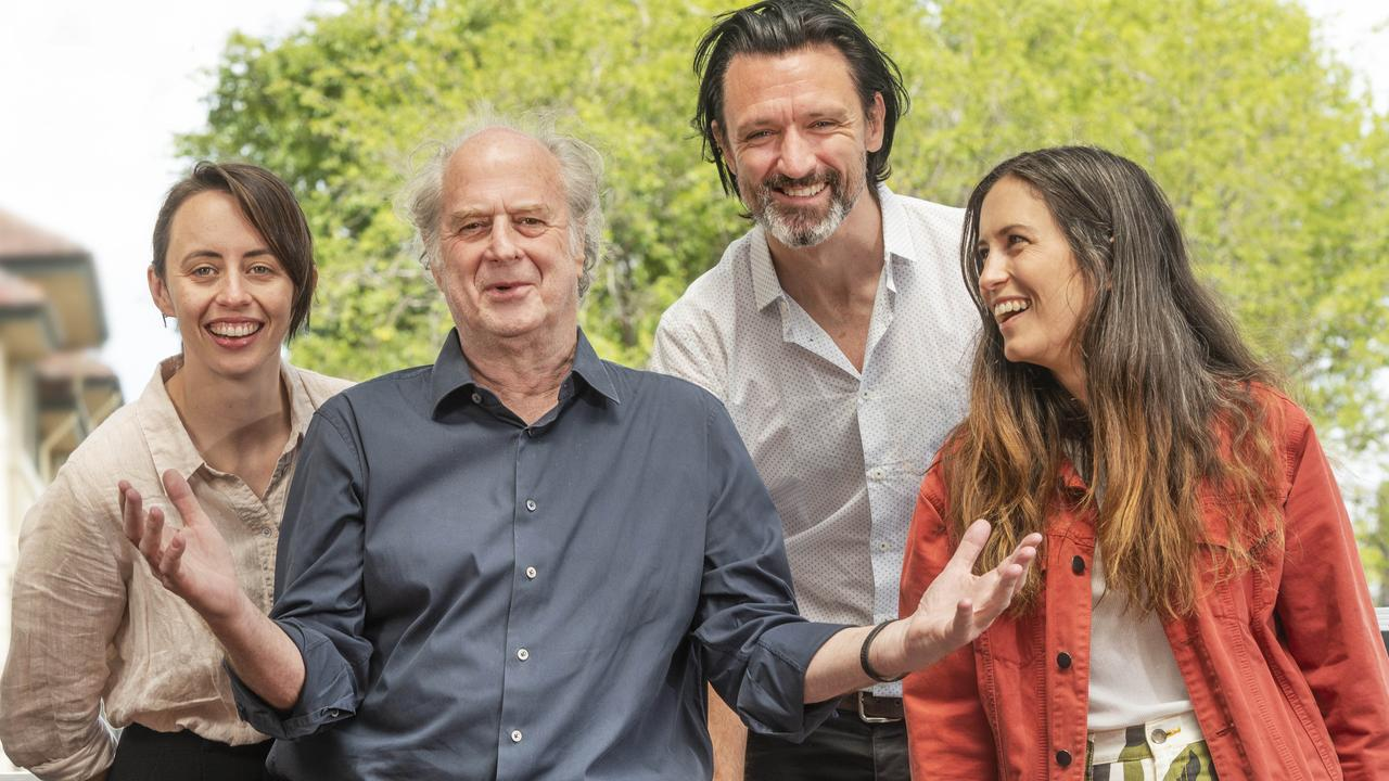 Gordi, Michael Gudinski, Paul Dempsey and Missy Higgins. Picture: Rob Leeson.