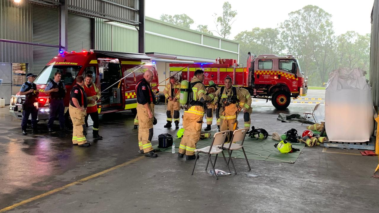 SILO HAZMAT: On January 18, 2021, Fire and Rescue NSW firefighters and a specialist HAZMAT crew worked for five hours to make a production plant safe following a fire at a stockfeed firm in Casino.