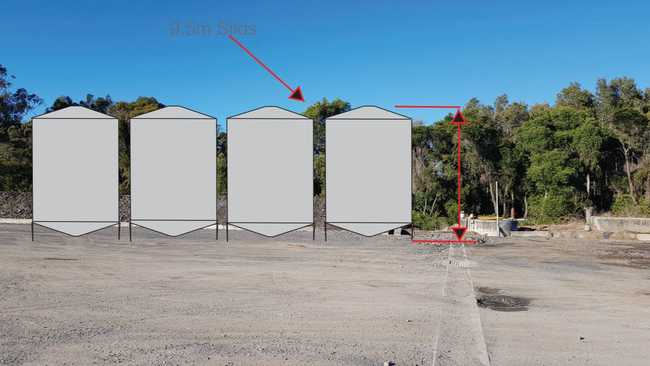 30 silos, almost 13m high, proposed for Ballina Shire