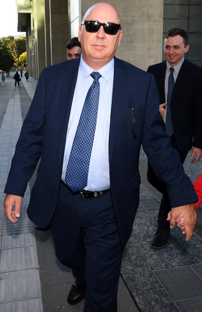 Queensland Police Sergeant Jason Scott Renwick leaves the District Court in Brisbane. Picture: NCA NewWire / Dan Peled
