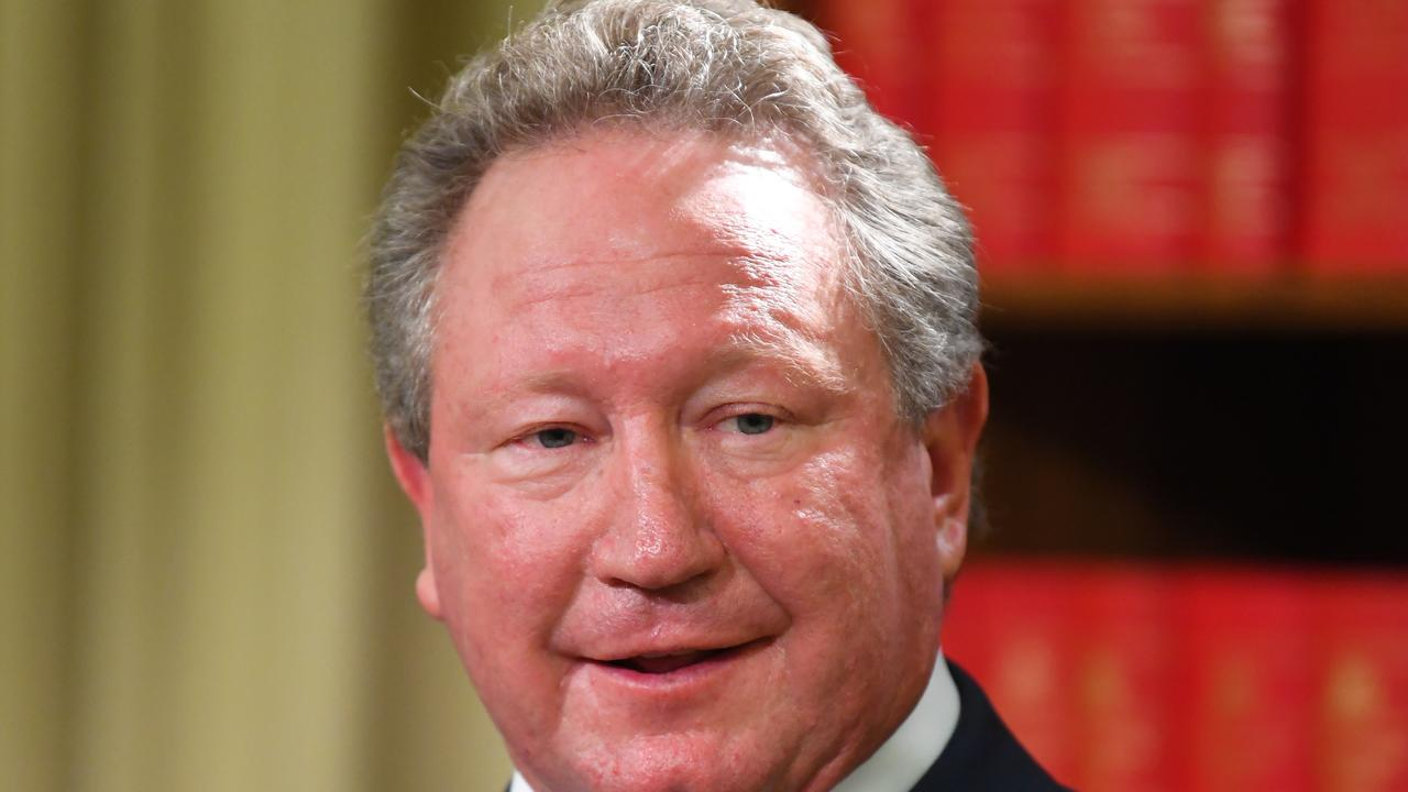 Fortescue Metals chairman Andrew 'Twiggy' Forrest confirmed he contracted the virus from a Russian translator in Uzbekistan. Picture: James Ross/ AAP.
