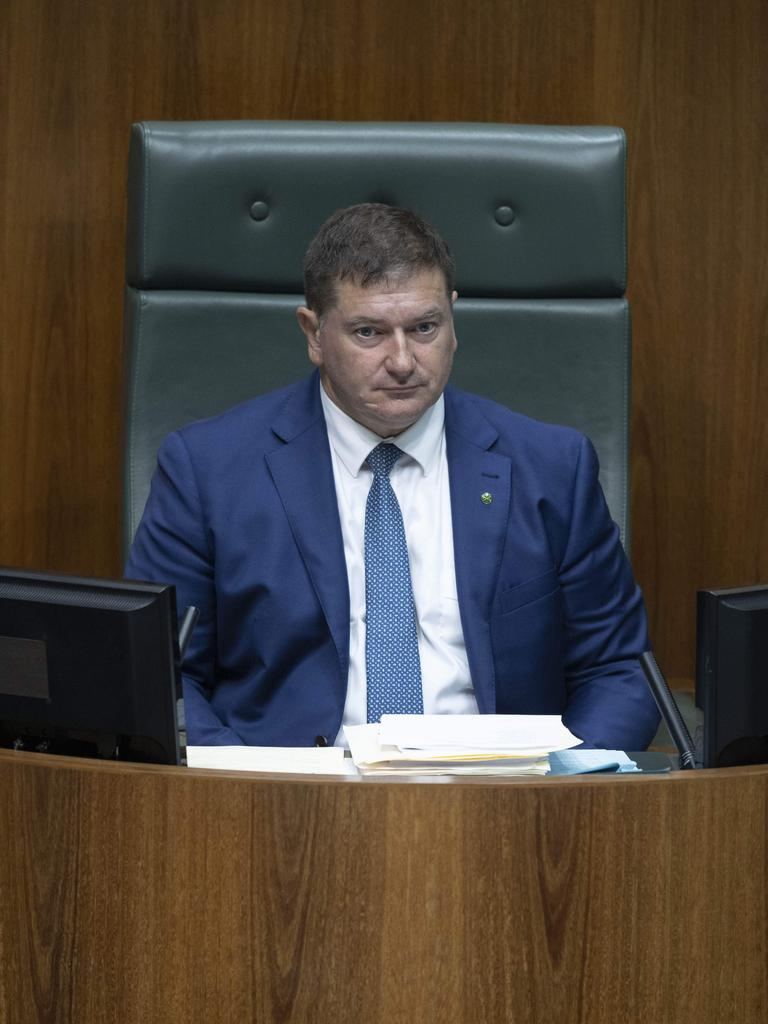Former Kilkivan police officer and now Wide Bay MP Llew O'Brien in the House of Representatives in Parliament House in Canberra. Picture: NCA NewsWire / Gary Ramage