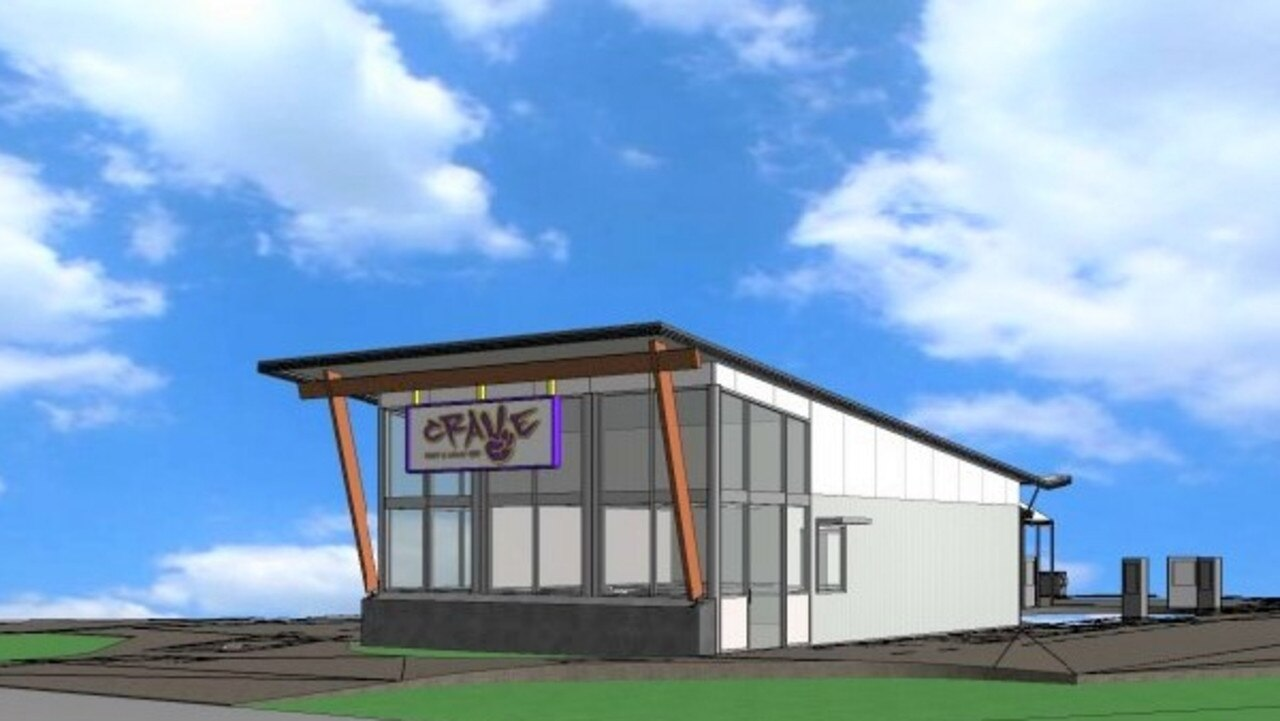Initial plans for the proposed drive-through food and drink store at Emerald.