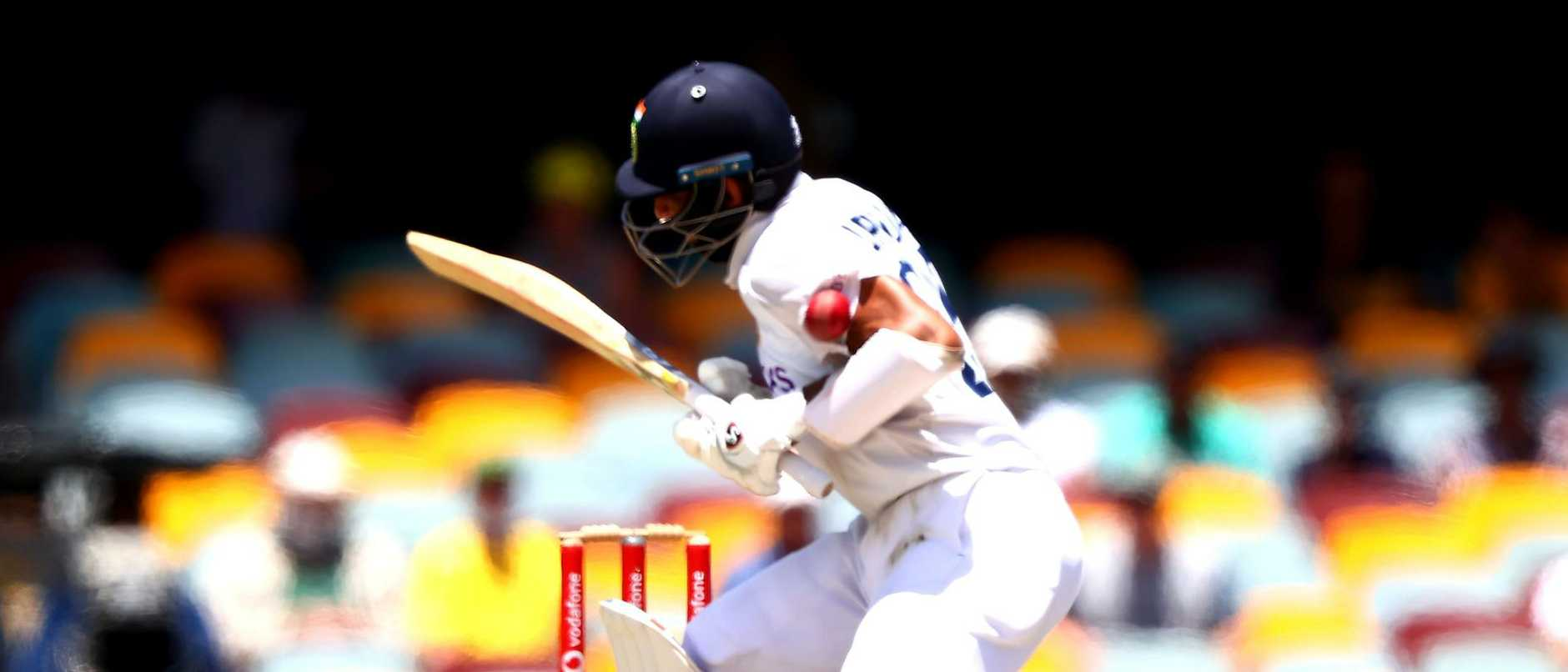 He was hit on the hand and shoulder, drilled in the ribs and dropped by a bouncer that struck his helmet in one of the most courageous innings of all time.