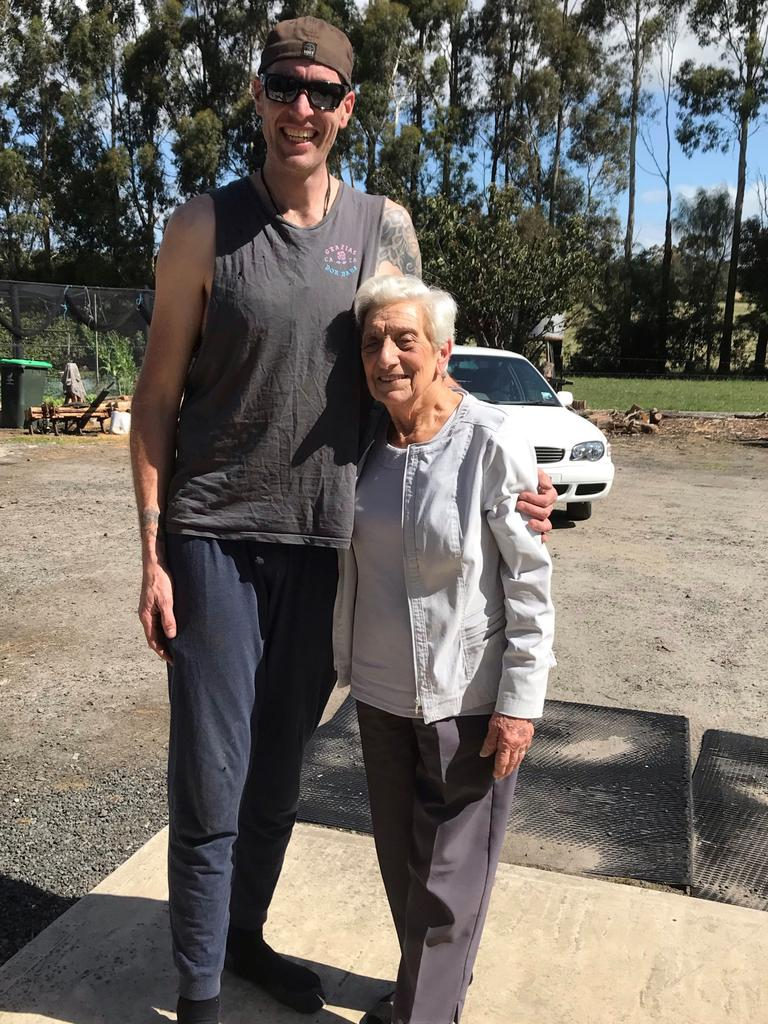 "Jarrad Lovison, called a ""gentle giant"" by his family, with his grandmother. Picture: Supplied"
