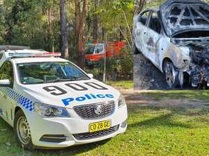 Driver who torched car north of Coffs still on the run