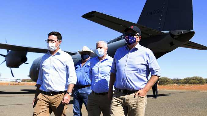 Prime Minister ScoMo touches down in southwest Queensland