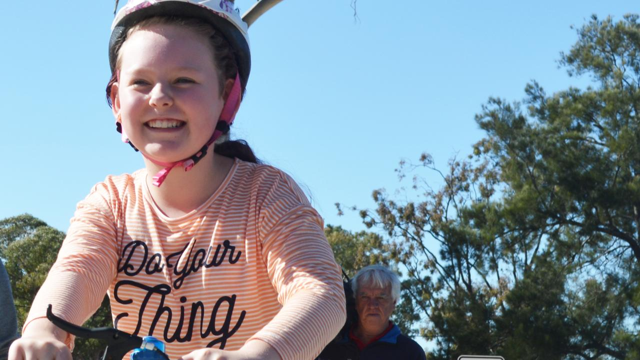 FROM LITTLE THINGS: Two years after her submission, Warwick girl Ella Winfield's Learn to Ride bike park was unveiled last year.