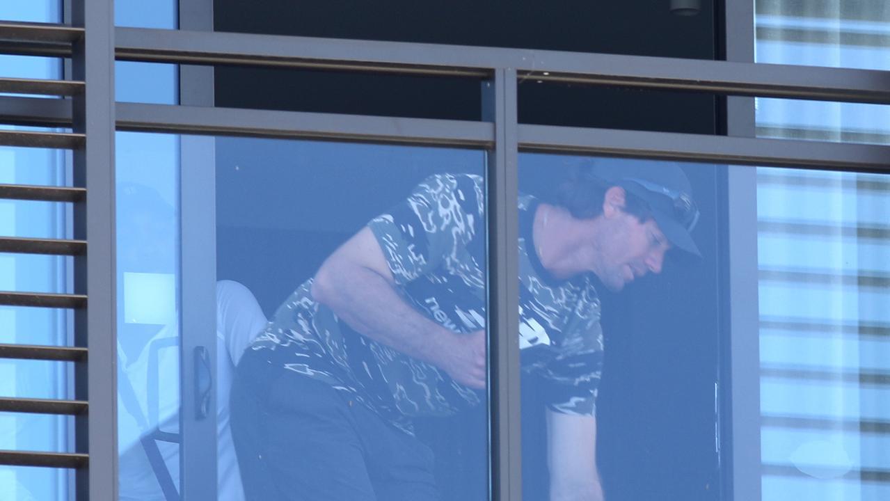 Tennis players while in quarantine. NCA NewsWire / Dean Martin