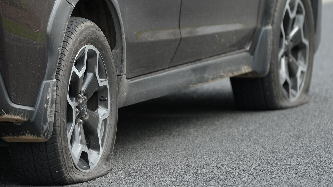 A man who pleaded guilty to a violent domestic violence breach punctured the tyres on his own car during his rage. Picture: File photo
