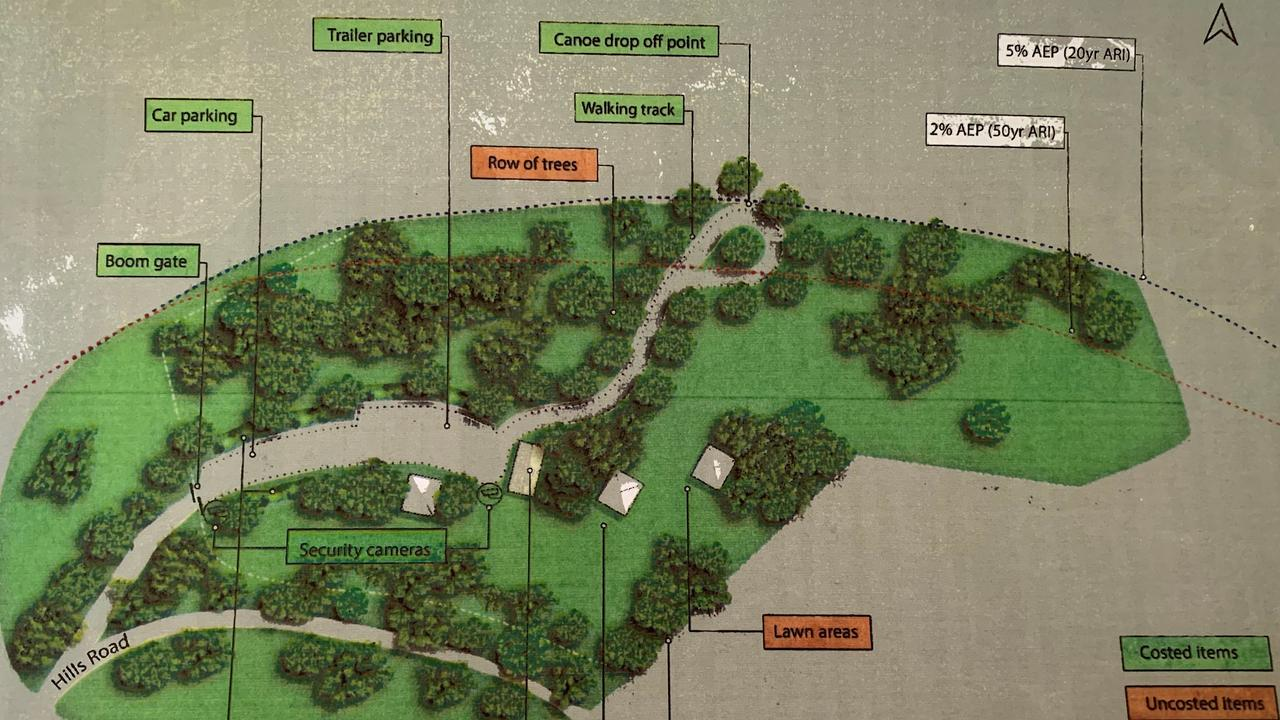 Sketches for improvements at Hills Reserve and Savages Crossing. Photo: Contributed
