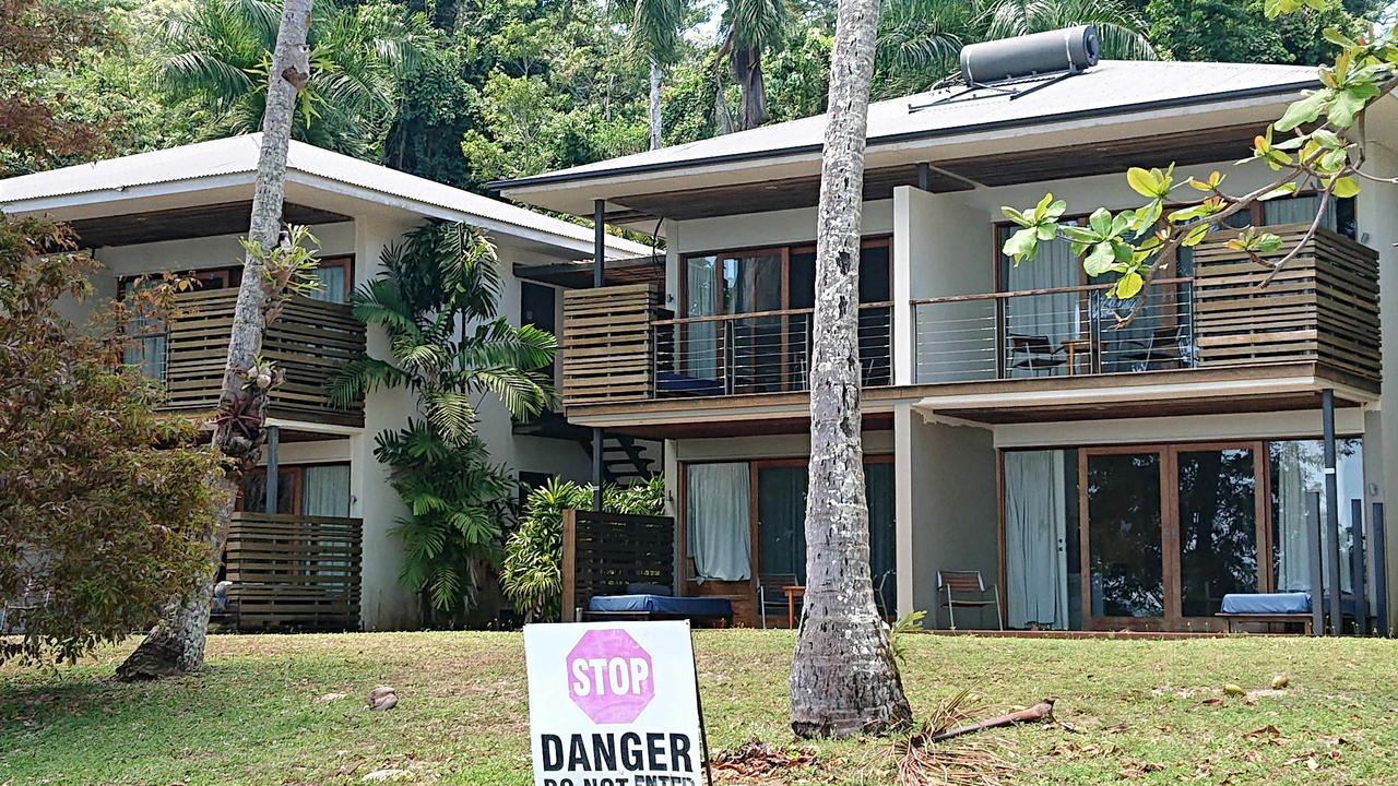 The renovated section of the Dunk Island resort which has been closed since it was battered by cyclone Yasi and cyclone Larry Larry . PICTURE: ANNA ROGERS