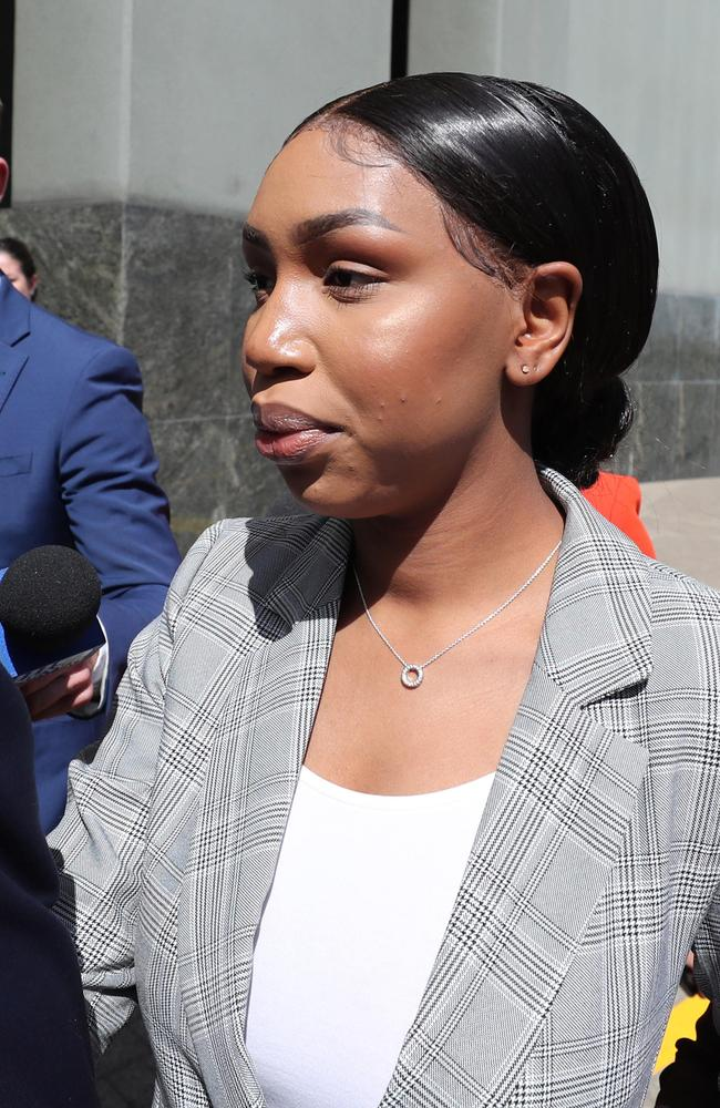 Olivia Muranga at a prior court appearance. None of the women fronted Brisbane Magistrates Court on Wednesday when their cases were briefly mentioned. Picture: Peter Wallis