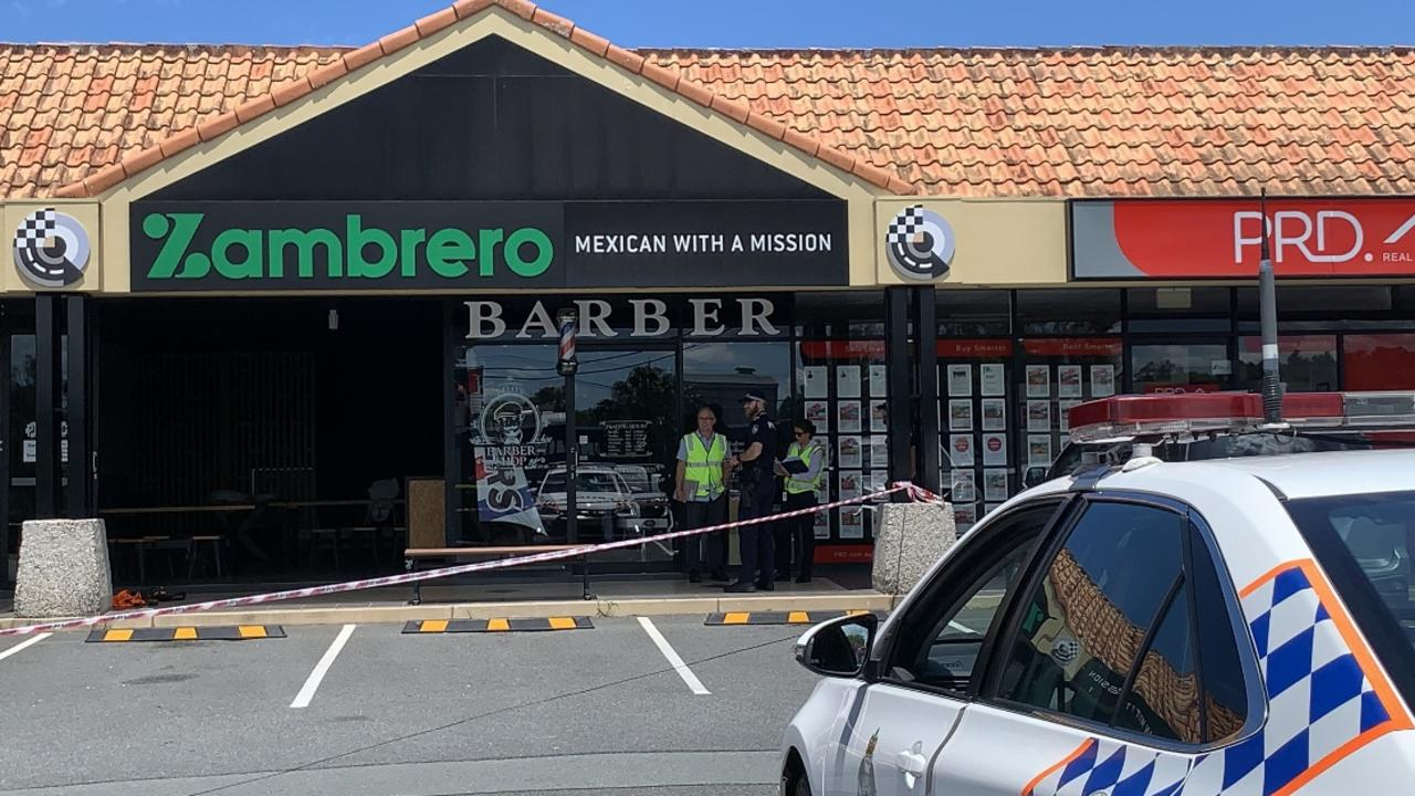 Workplace Health and Safety officers have arrived at the scene where two people suffered horrific electrical burns and were rushed to hospital. Picture: Scott Powick.
