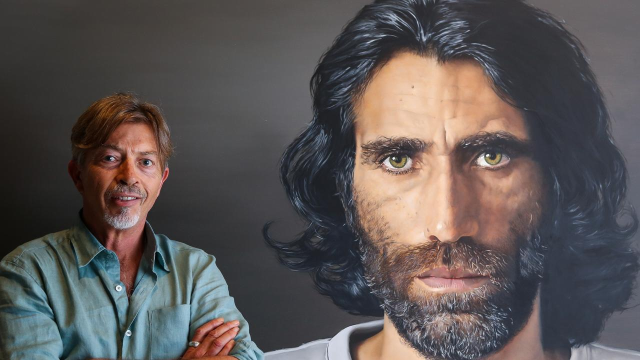 Angus McDonald won the 2020 Archibald Prize ANZ People's Choice award for his portrait of Behrouz Boochani. Picture: NCA NewsWire / Gaye Gerard