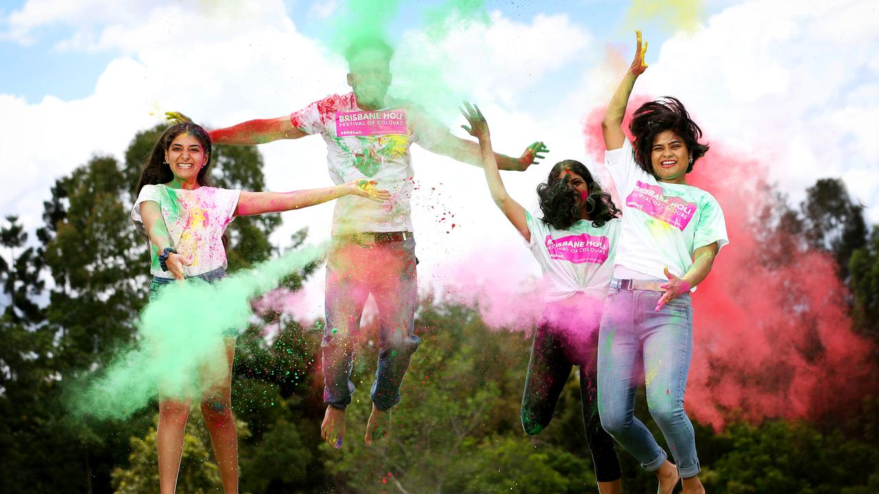 Holi Festival of Colours will be a ticketed event this year. Picture: Steve Pohlner