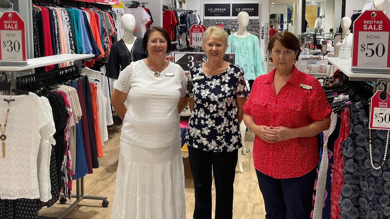 Noni B Kin Kora shop assistants Margaret Newman, Chris Hodgson and Terri Coleman are here to stay.