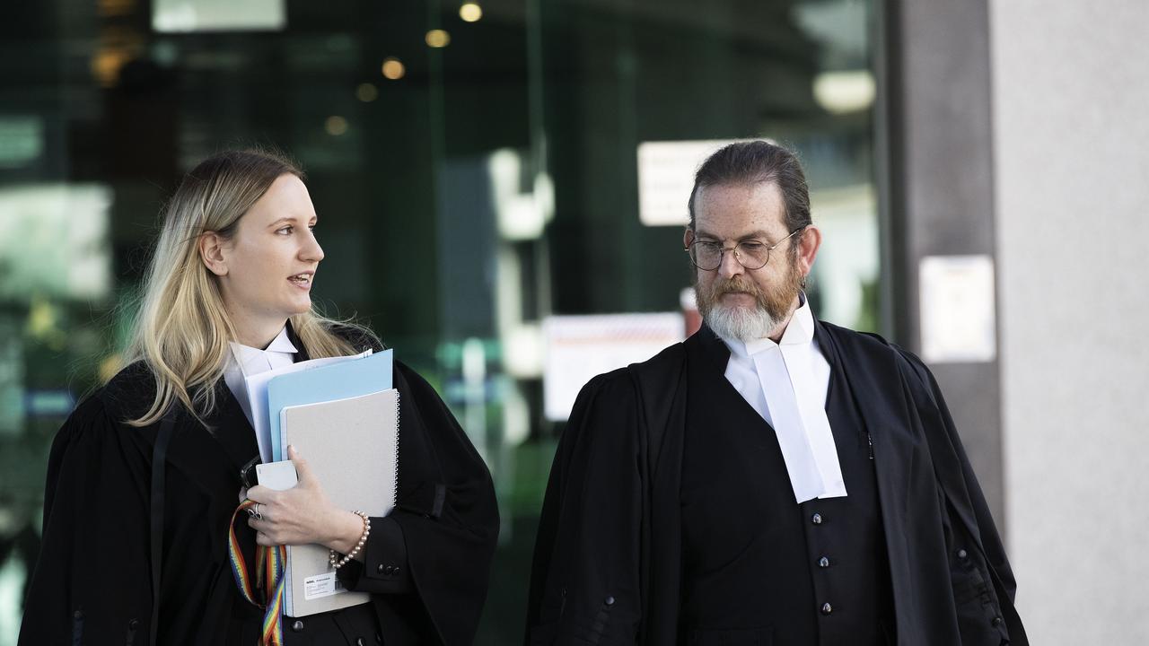 Crown prosecutors Alysha Ballantine and Mark Green outside court.