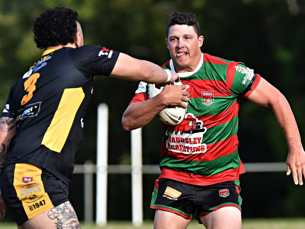 Nambour centre Paul McKewin is fast approaching 100 games for the club.
