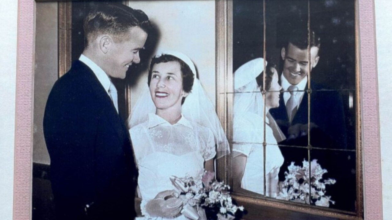 Bryan and Erica Costigan on their wedding day, January 7, 1956.
