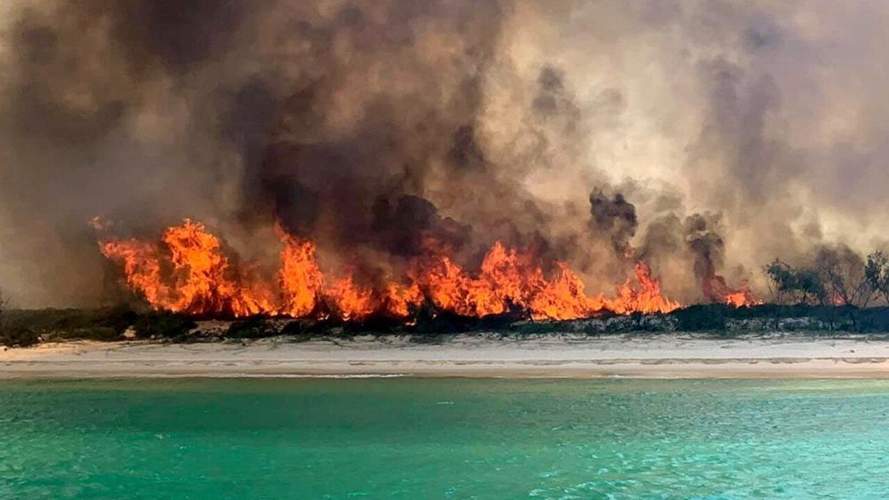 Two men have been sentenced over last year's Fraser Island bushfire. Photo: Contributed.