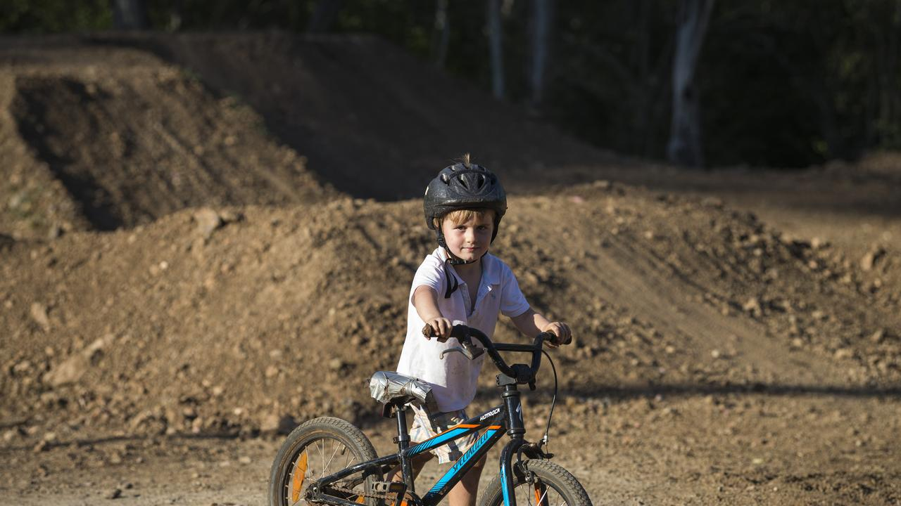 Young rider Henry Ferguson at Jubilee Park.