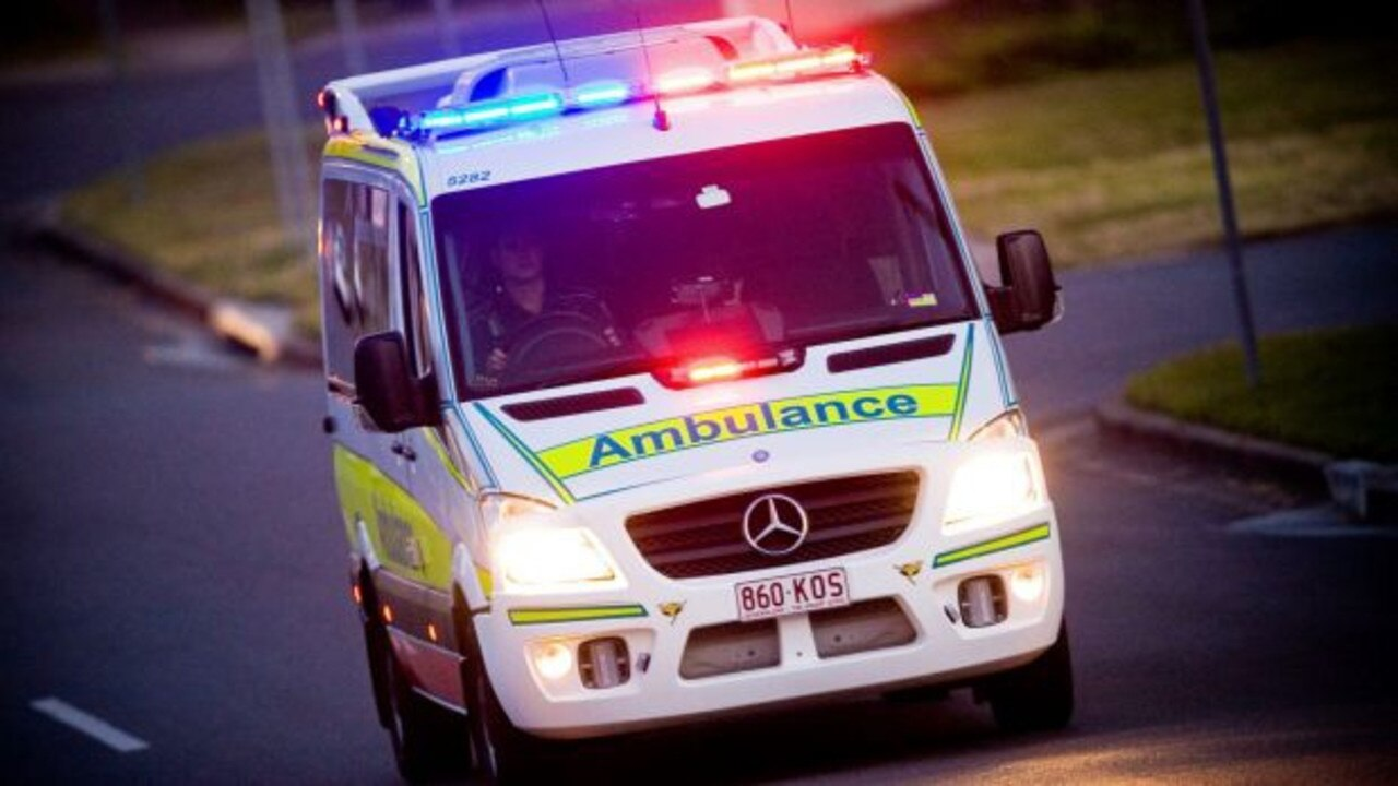 Paramedics from QAS arrived on scene after a vehicle crashed into a tree north of Childers.