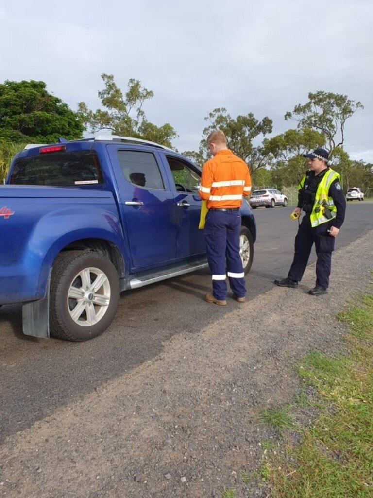 A road safety blitz at Nebo this week. Picture: supplied