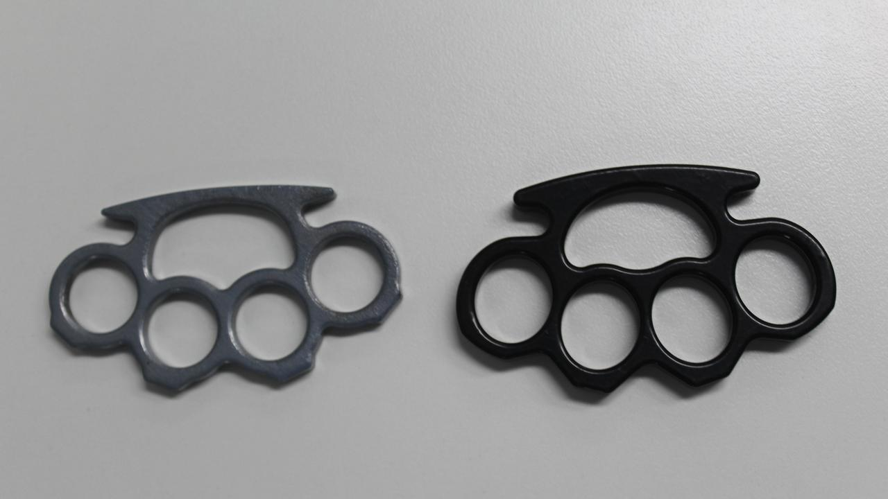 One knuckle duster weapon was found along with drugs at a Zilzie mum's residence. FILE PHOTO.