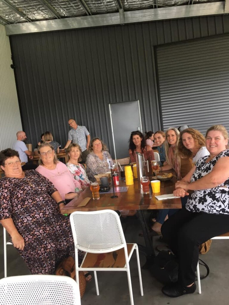 The Clarence Women's Group recently together for lunch at Sanctus Brewing Co. in Townsend.