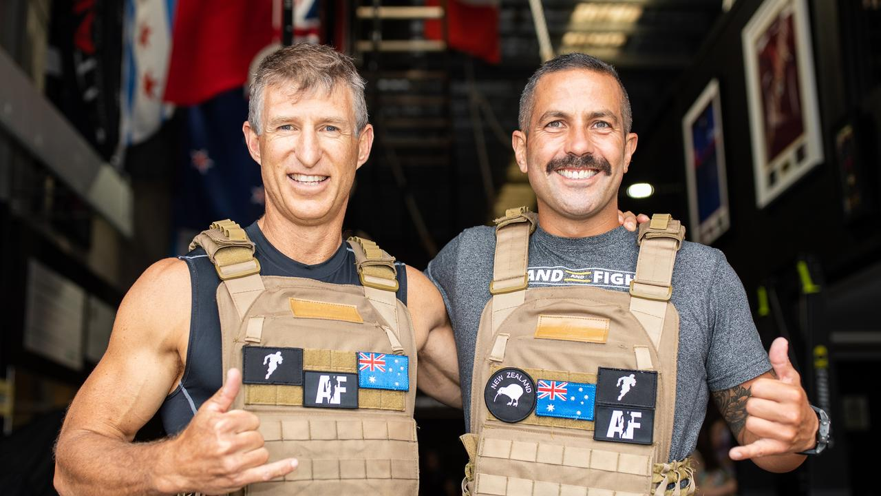 Sunshine Coast man Jamie Milne and training partner Russell Stringer attempting a 24hr world record challenge.