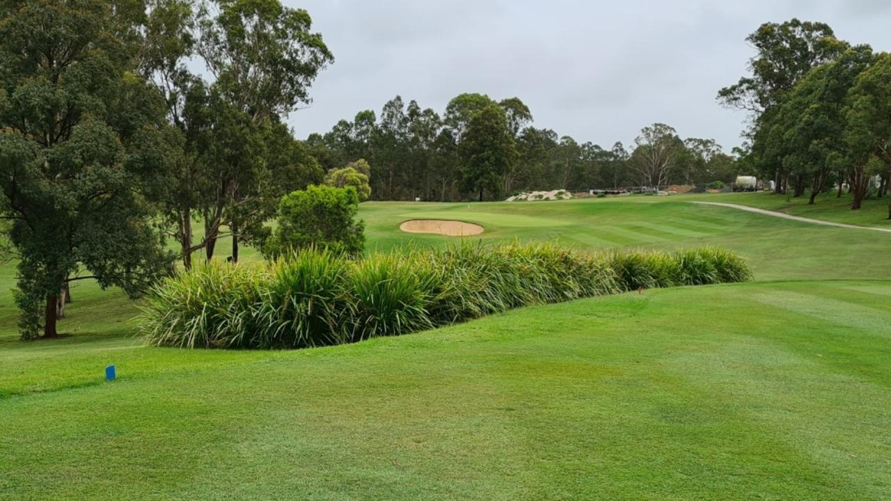 The 10th hole of the Grafton District Golf Club course.