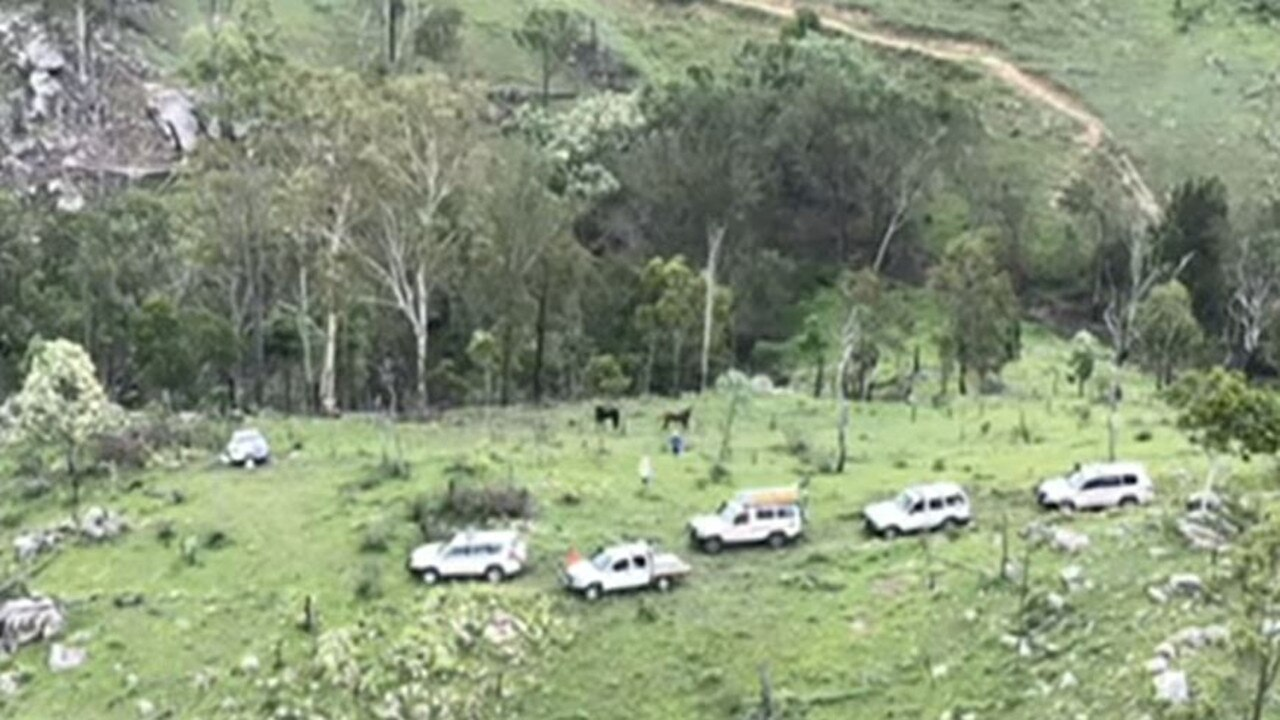 The search at Tansey for missing man Robert Weber has been suspended. Pictures: Ch 7 Sunshine Coast