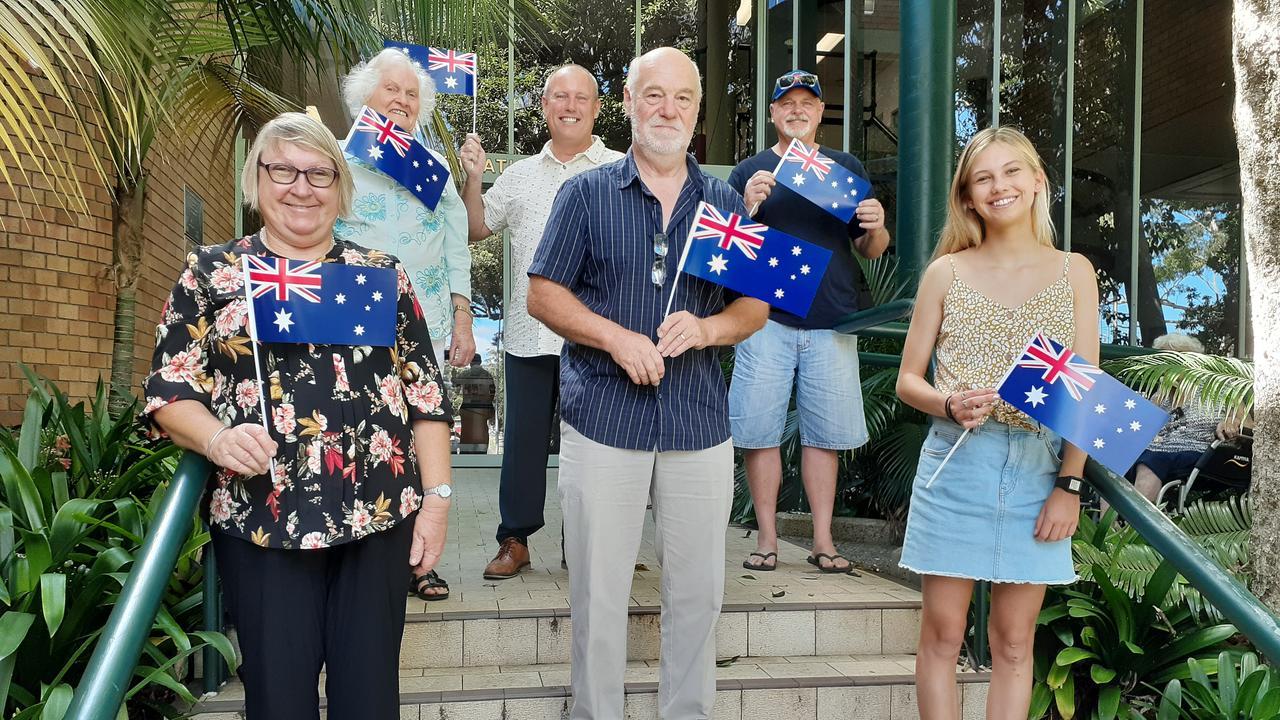 Coffs Harbour Australia Day award nominees for 2021, clockwise from top left: Beth Rogers, Michael Bourne, John Lardner, Rosie Smart, John Higgins and Julie Ferguson.