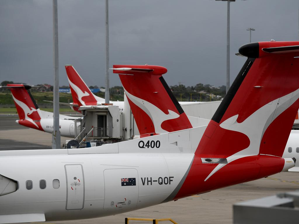 Sacked Qantas workers are distraught, the union says. Picture: NCA NewsWire/Bianca De Marchi