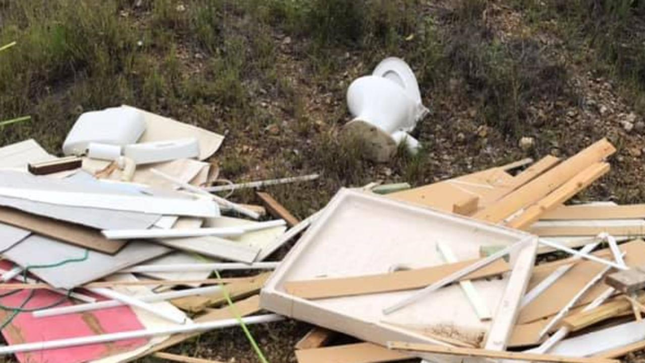LOW BLOW: Bathroom rubbish dumped illegally at a Kilkivan property has been described as a 'low act'. Picture: Kylie Dowling