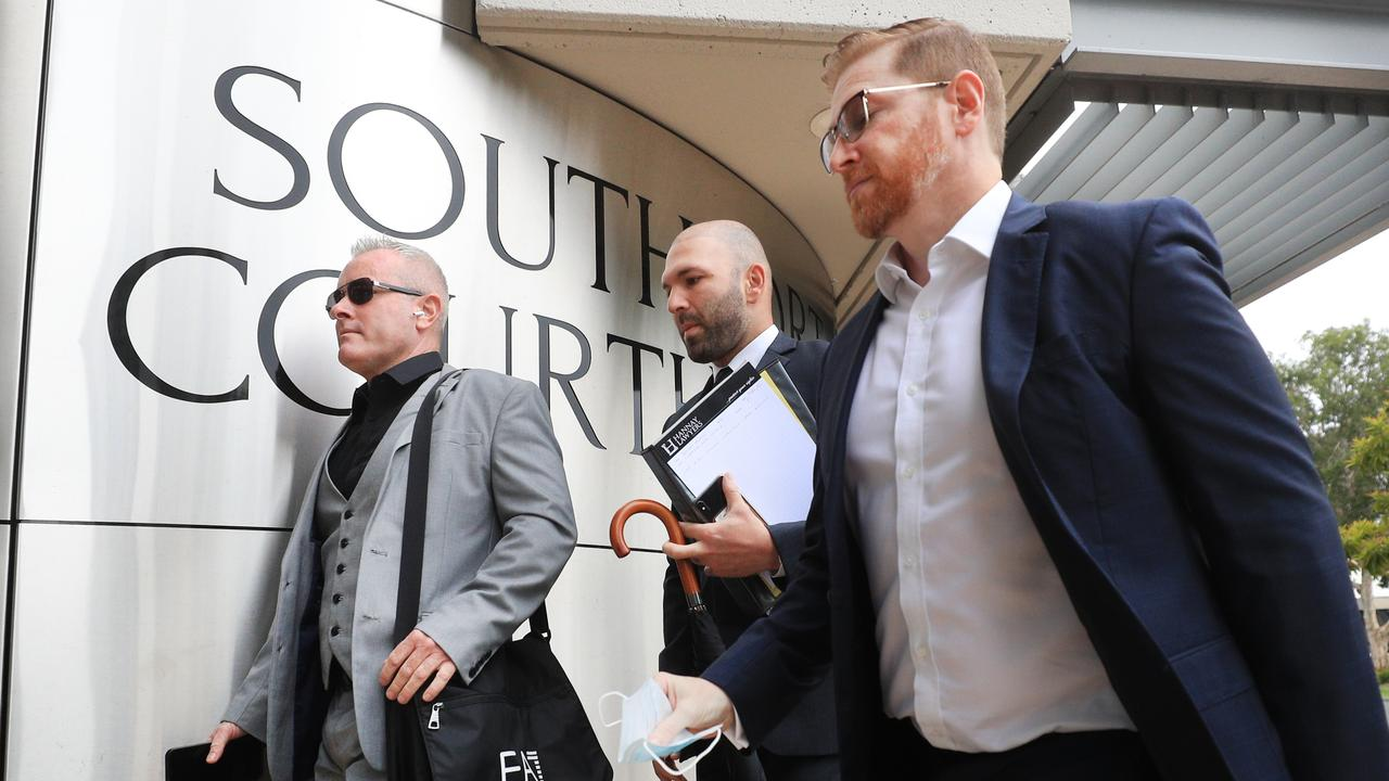 Jayden Moorea, aka Dan Shearin, at Southport Court House on January 20, 2021. Photo Scott Powick/Newscorp.