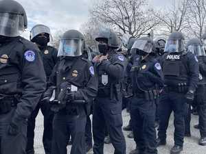 Tense scenes on the streets of Washington