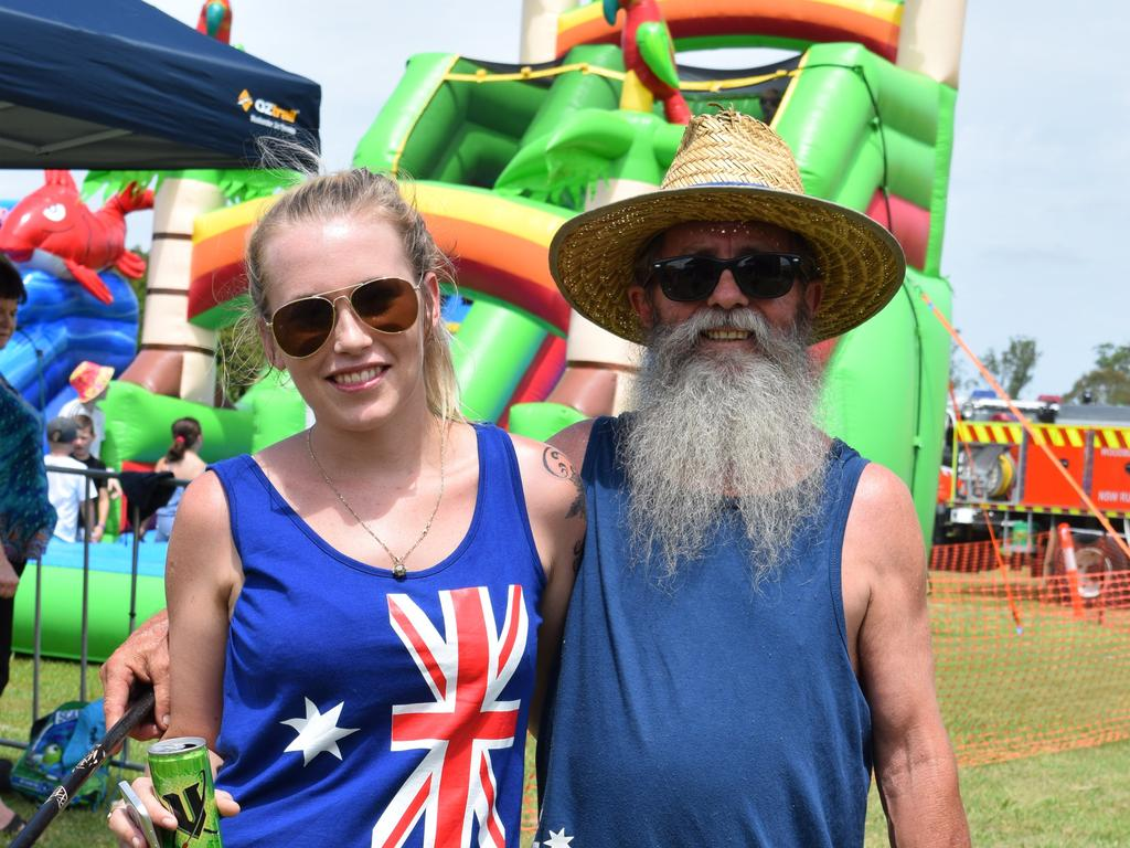 Taok Borserini (L) and Greg Everest (R), both from Woodburn, at the Richmond Valley Council Australia Day events in 2017.