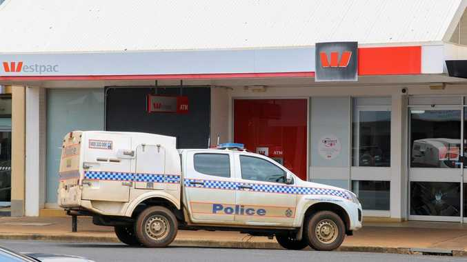 Kingaroy bank door smashed after woman told to stand in line