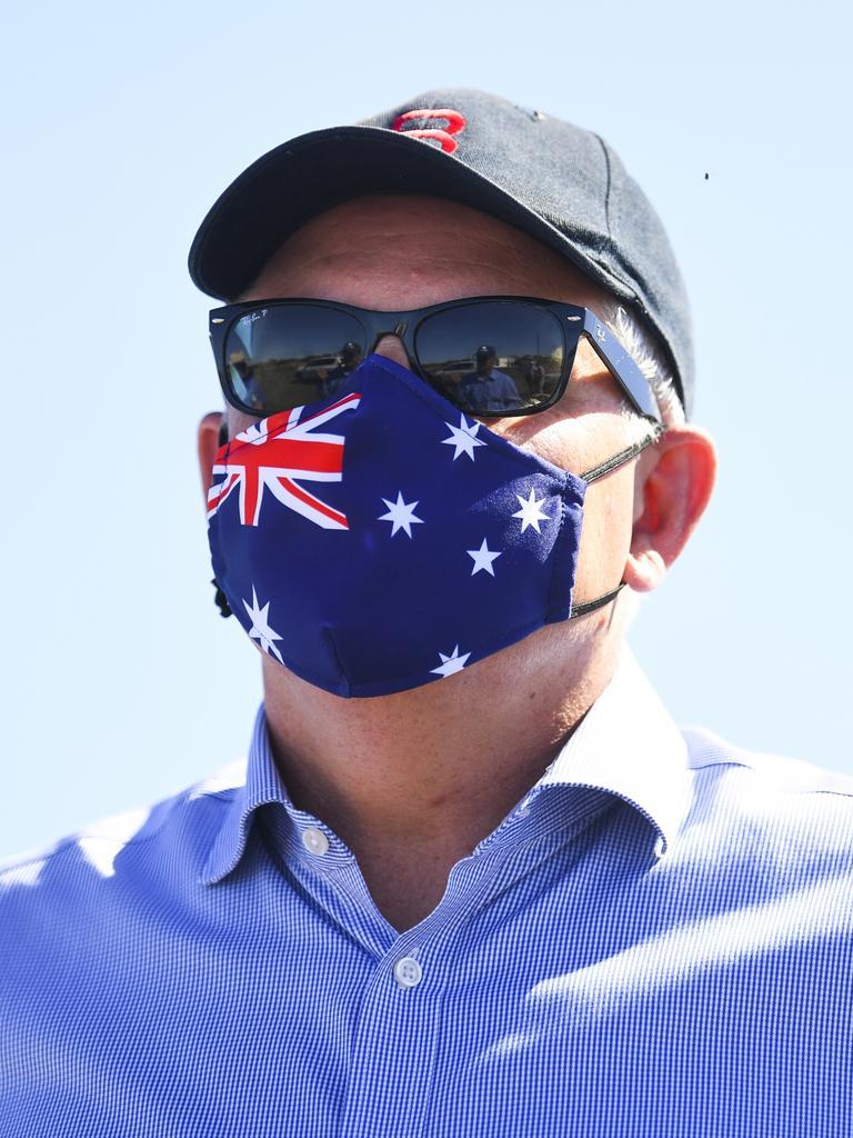 Australian Prime Minister Scott Morrison in Queensland. Picture: AAP/Lukas Coch
