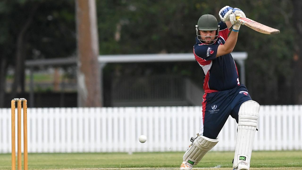 Luke Johnstone batting for Southside in last year's game.
