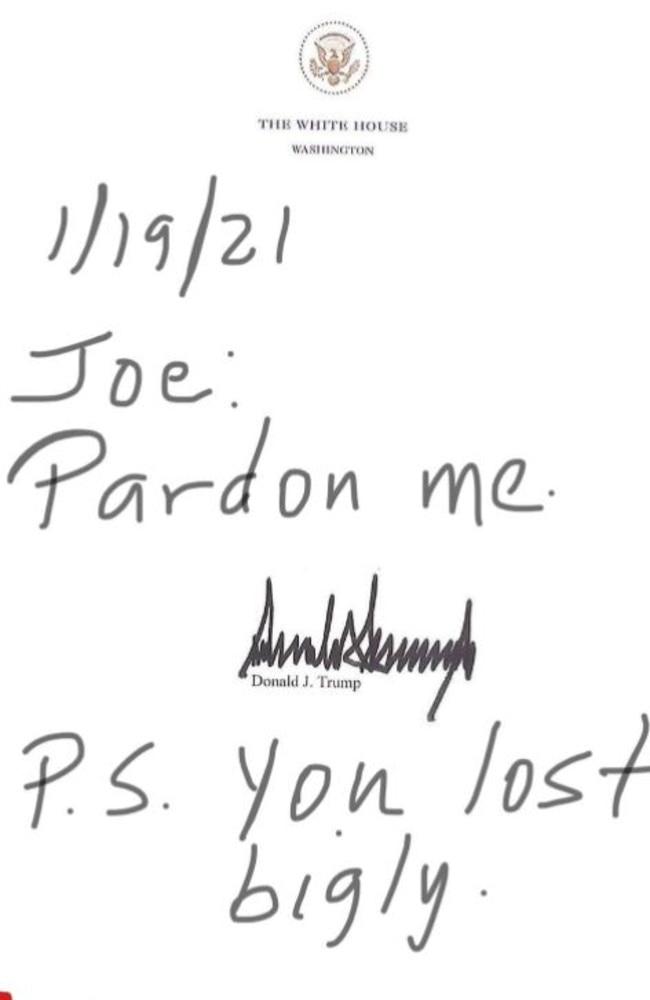 'Pardon me.'