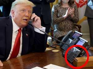 Biden rips out Trump's favourite button