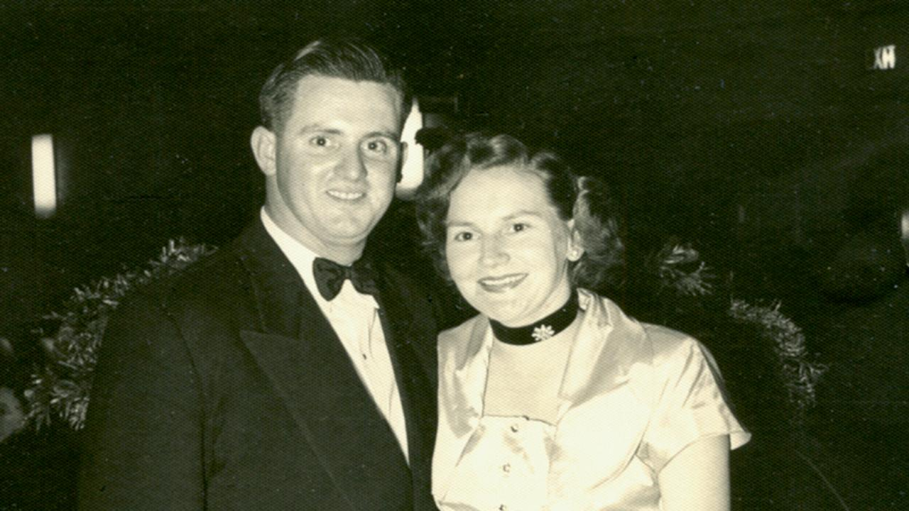 Dudley and Joan Doherty in the early 1950s when they both worked for ASIO. Picture: Supplied