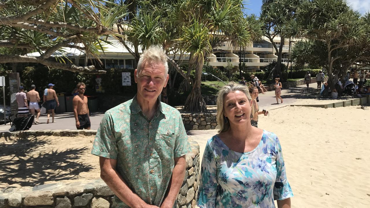 Noosa Council deputy mayor Frank Wilkie and Sunshine Coast Environment Centre community liaison Narelle McCarthy.