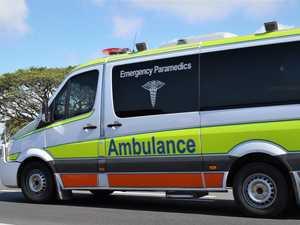 Man hospitalised after motorbike, car crash on hwy