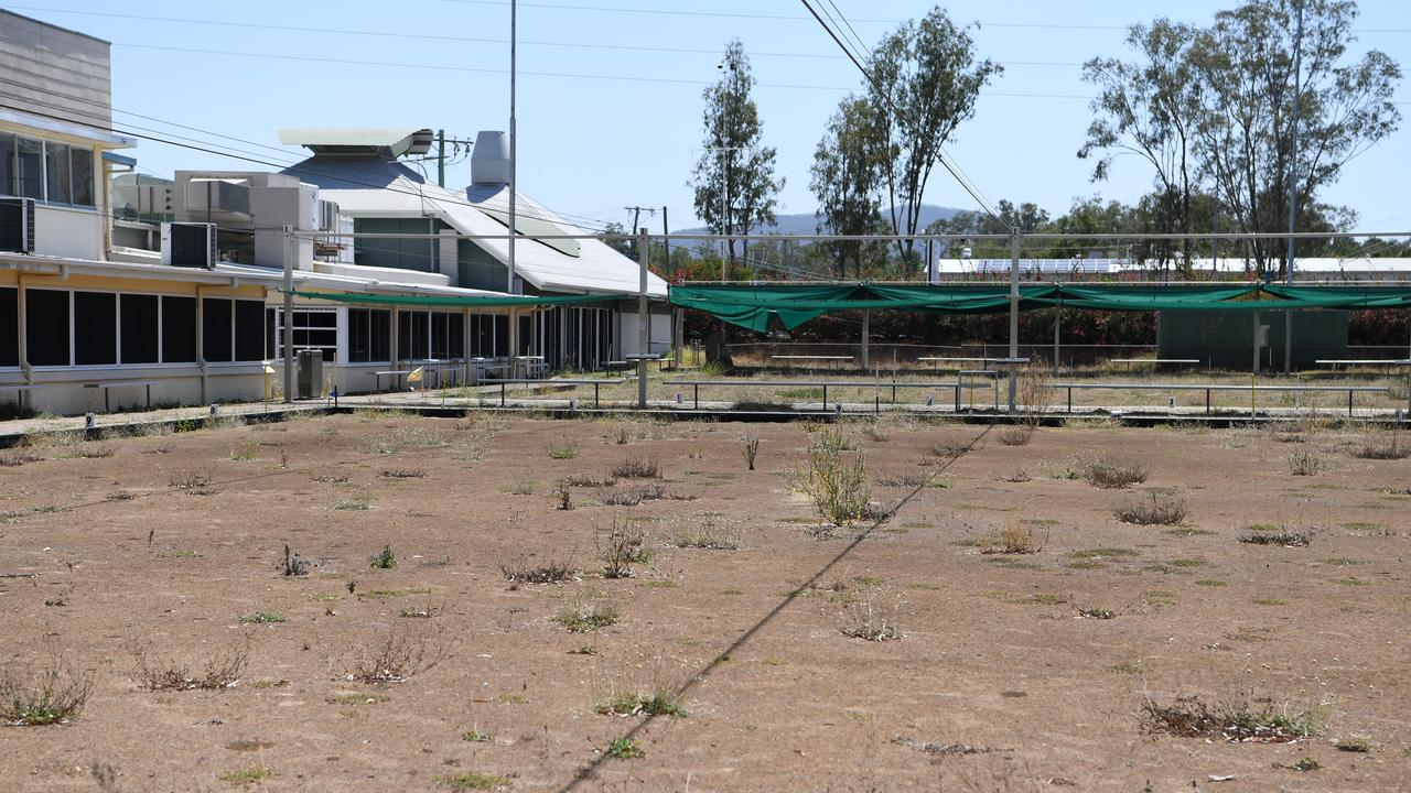 North Rockhampton Bowls Club, taken in October 2019, has been closed since September 2018.