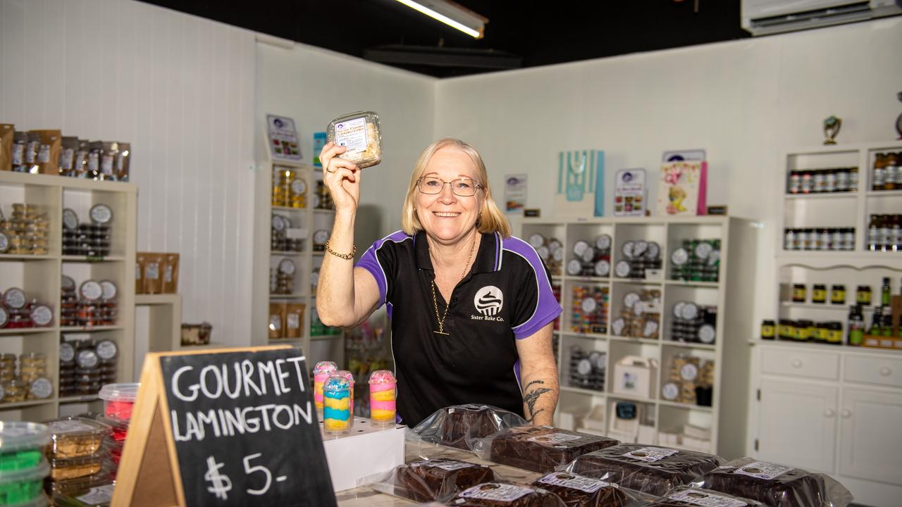 Sister Bake Co, Toogoolawah, co-owner Vicky Cherry at her new shop with a range of products on offer. PHOTO: Ali Kuchel